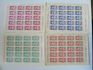 POLAND 1959 POZNAN BALLOON STAMPS complete set full sheets mnh**/di914