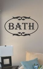 bath vinyl wall art decal sticker home house decor bathroom shower tub