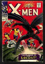X-Men #24 GD+ 2.5 White Pages Locust! Marvel Comics