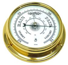 Tabic Traditional Solid Brass Barometer, Weighs (1/2kg), Handmade in England