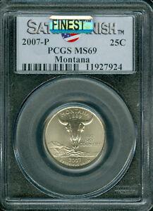 2007-P MONTANA QUARTER PCGS MS 69 SF PQ MAC FINEST GRADE MAC SPOTLESS .