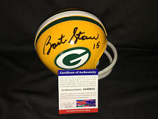 Bart Starr Signed Official Green Bay Packers Mini Helmet Hall of Fame PSA/DNA