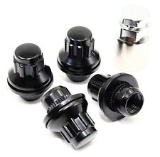 "Set Of 4 Veritek Black OE Style Wheel Locks Mag with Washer 12x1.5 1.46"" Length"
