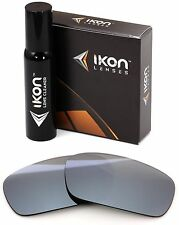 Polarized IKON Iridium Replacement Lenses For Oakley Crankshaft Silver Mirror