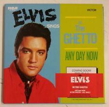 Elvis Presley In The Ghetto Cd-Single UK Reedicion 2007, Doble Portada Cartón