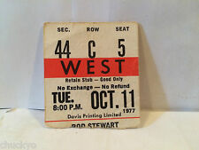 Rod Stewart Concert Ticket Stub 10-11-1977 Toronto Maple Leaf Gardens
