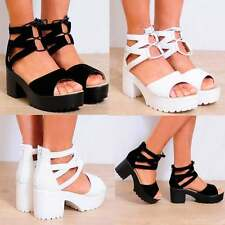 Unbranded Women's Synthetic Leather Strappy, Ankle Straps Wedge Shoes