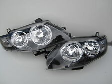 FORD FALCON FG XT MK G6 G6E F6 SERIES 1 HEADLIGHTS BLACK BRAND NEW PAIR