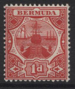 BERMUDA - 1906/10 WMK. MCA 1d RED MINT SG.38  (REF.A4)