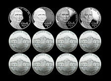 2010 2011 2012 2013 P+D+S Jefferson Nickel Mint Proof Set & PD from Bank Rolls