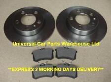 VW Polo 01-09 1.9 TDi Saloon 100bhp Rear Brake Pads /& Discs 232mm Solid