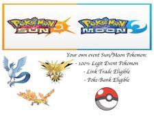 Pokemon Ultra Sun and Moon Pokescrap Event Zapdos Moltres Articuno 3 Poke Bundle
