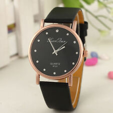 Fashion Women's Watch Diamond Leather Band Round Dial Quartz Wrist Watch Gifts