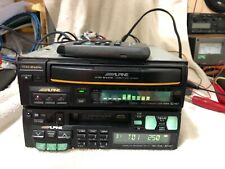 Rare Alpine TDA7536j & CDA5985 3CD Changer CAR RADIO CASETTE PLAYER DSP