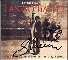 Gidon KREMER Alois POSCH Signed PIAZZOLLA Tango Ballet Concerto ASTOR QUARTET CD