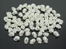 Solid Metal Side Drilled Metal Skull Earring Bracelet Connector Charm Beads