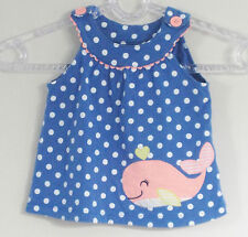 CARTER'S Size 24 Months Blue Polka Dot Sleeveless Dress