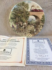 """WEDGEWOOD LIMITED EDITION CHINA PLATE """"OVER THE CANAL"""" By John Chapman No: 4736C"""