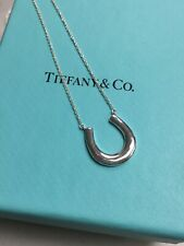 "TIFFANY & CO STERLING SILVER HORSE SHOE 18"" NECKLACE"