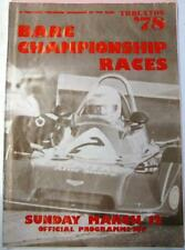 THRUXTON BARC Championship Races 12th Mar 1978 Motor Racing Official Programme