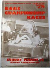CAMPIONATO THRUXTON BARC Corse 12th MAR 1978 MOTOR RACING PROGRAMMA UFFICIALE