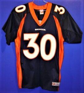 DENVER BRONCOS TERRELL DAVIS #30 NAVY Size 48 NFL Nike JERSEY