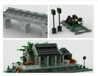 LEGO CUSTOM INSTRUCTIONS MOC TRAIN BUNDLE Viaduct, TRAIN STATION, TRAIN BUFFER