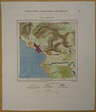 1893 Perron map PORT OF SPAIN, TRINIDAD, LESSER ANTILLES (#20)