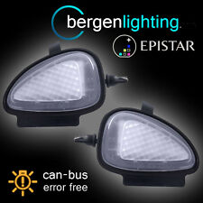FOR VOLKSWAGEN GOLF & CABRIOLET 6 LED UNDER MIRROR PUDDLE LIGHT LAMP PAIR