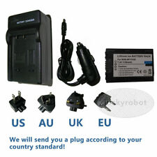 Battery+charger For Sony NP-FH40 DCR-DVD110E AVCHD SLR A290 A390 NP-FH50 HD Cam