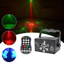 120 Muster Laser Projektor RGB LED USB Party DJ Disco Bühnenbeleuchtung +Remote