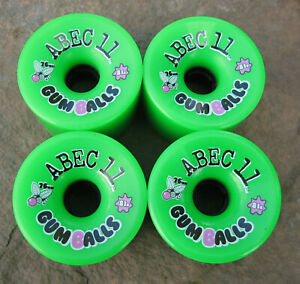 Abec 11 Gumball 76mm 81A Longboard Skateboard Wheels - RARE NEW