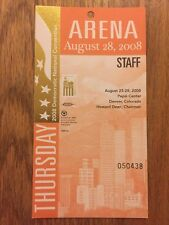 2008 Democratic National Convention ARENA STAFF Credential Pres Barack Obama