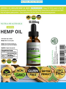 Hemp Oil 50,000mg 50000mg 💗 ULTRA Premium 💗 Dropper Bottle 💗 UK PRODUCT