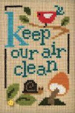 10% Off Lizzie Kate Counted X-stitch chart - Green - Keep Our Air Clean