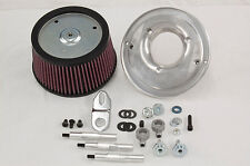 R&R Cycles Air Cleaner Kit For Harley Davidson Stock Throttle Body 08-Later TBW