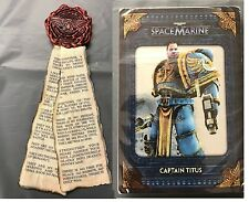 Warhammer 40000 space marine COLLECTORS EDT Purity Seal Aimant + info cartes NEUF