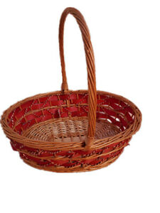 Display Gift Basket Flower Basket Collection Basket Wicker Basket with Handle