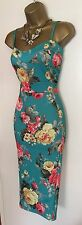 NWT Fitted Floral Wiggle Wedding Mother Of Bride Party Cocktail Cami Dress UK 14