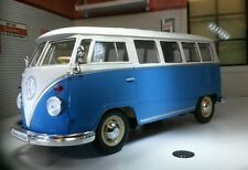 1962 VW Samba T1 Dormobile Devon Camping-car Campervan Welly 1:24 Echelle Bleu