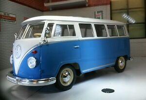 VW Bay 1963 Motorhome Devon Camper Furgone Camper WELLY 1:24 Scala Modellino