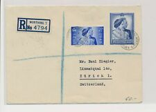 LM73960 Great Britain 1946 to Switzerland registered good cover used