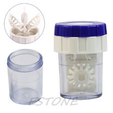 Latest New Plastic Manually Cleaning Lenses Case Contact Lens Cleaner Washer 1pc