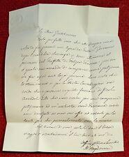 2844-LETTERA AUTOGRAFA DEL PRINCIPE ORSINI, AL MARCHESE CLARELLI, 1849-1870 (?)
