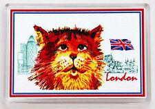 London Souvenir Ginger Cat Union Jack Fridge or Office & Noticeboard Magnet