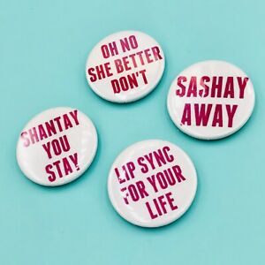 DRAG RACE RU-PAUL QUOTE BUTTON PIN BADGES