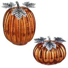 464911 Orange Lighted Pumpkin Halloween Thanksgiving Harvest Autumn Decoration