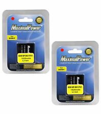 MaximalPower Battery For Sony NP-BG1 NP-FG1 NPBG1 CyberShot DSC-W200 (2PK)