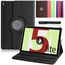 360°Rotation Huawei MediaPad M5 Lite 10.1 Schutz Hülle Kunst-Leder Case +Pen-N