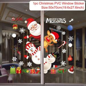 Christmas Wall Window Sticker Xmas Decoration For Home Window Glass Ornament